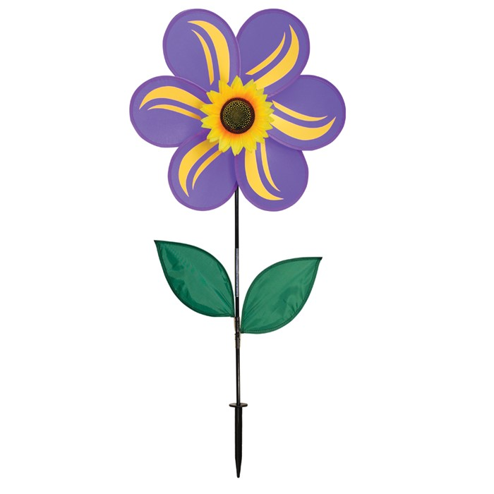 "19"" Sunflower With Leaves - Purple"